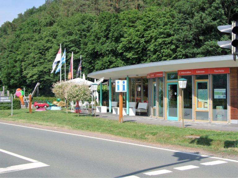 Der Infopoint am Affolderner See. (Foto: Uli Klein)