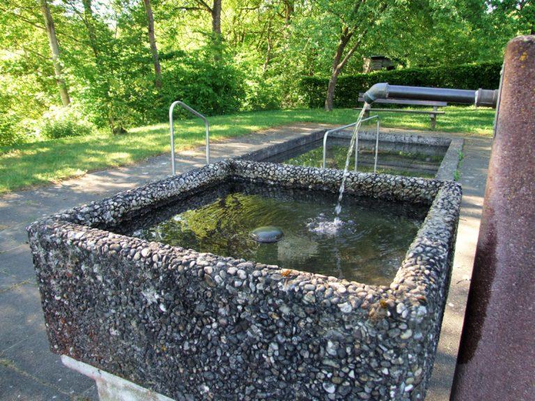 Gut für Herz und Kreislauf: Die Wassertretanlage. (Foto: Uli Klein)
