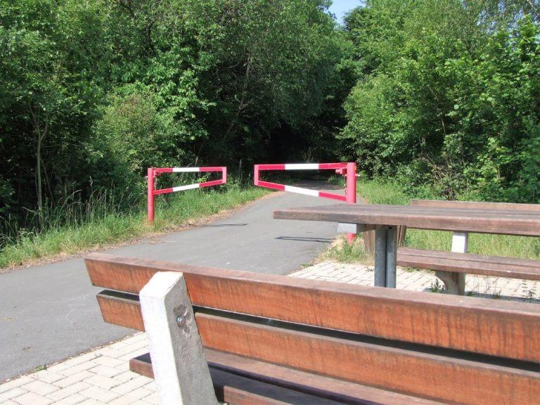 Start oder Endpunkt des Ederseebahn-Radweges. (Foto: Uli Klein)