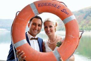 Auch eine Hochzeit an Bord eines Schiffes ist möglich. (Foto: Fotoatelier Ruhl)