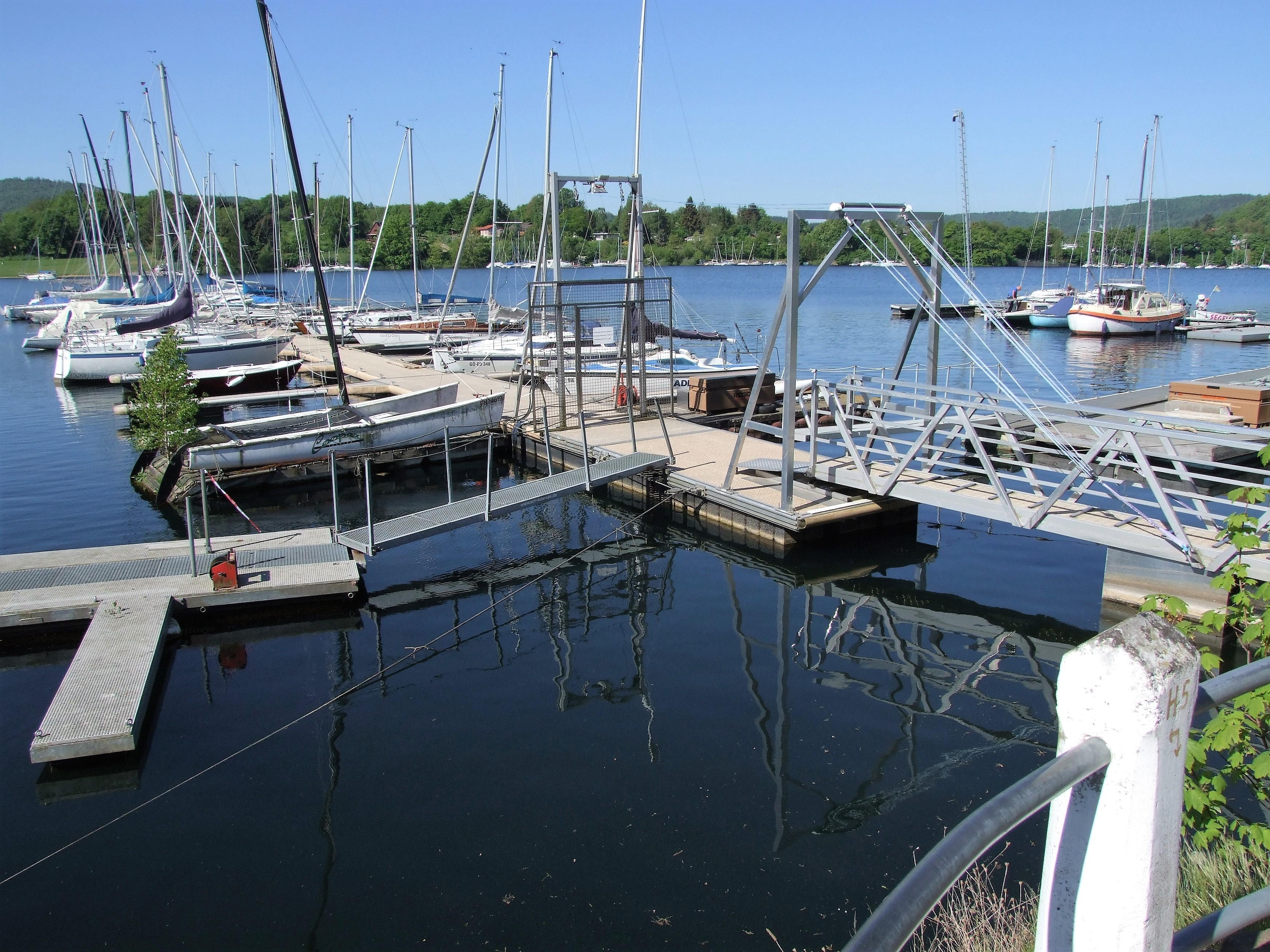 Der Yachthafen in Rehbach. (Foto: Uli Klein)