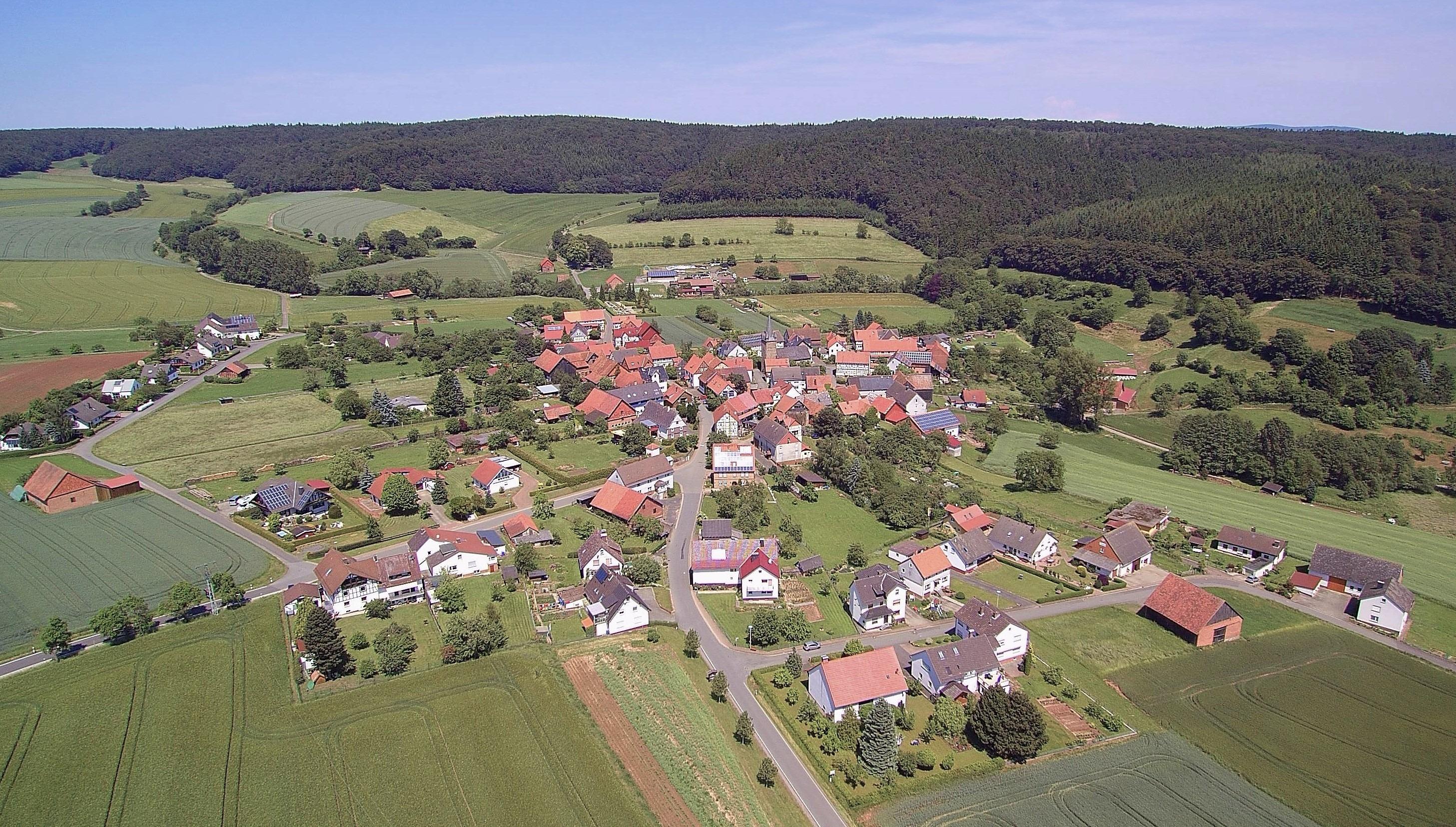 Das Dorf aus der Vogelperspektive. (Foto: 3M-Media-Works)