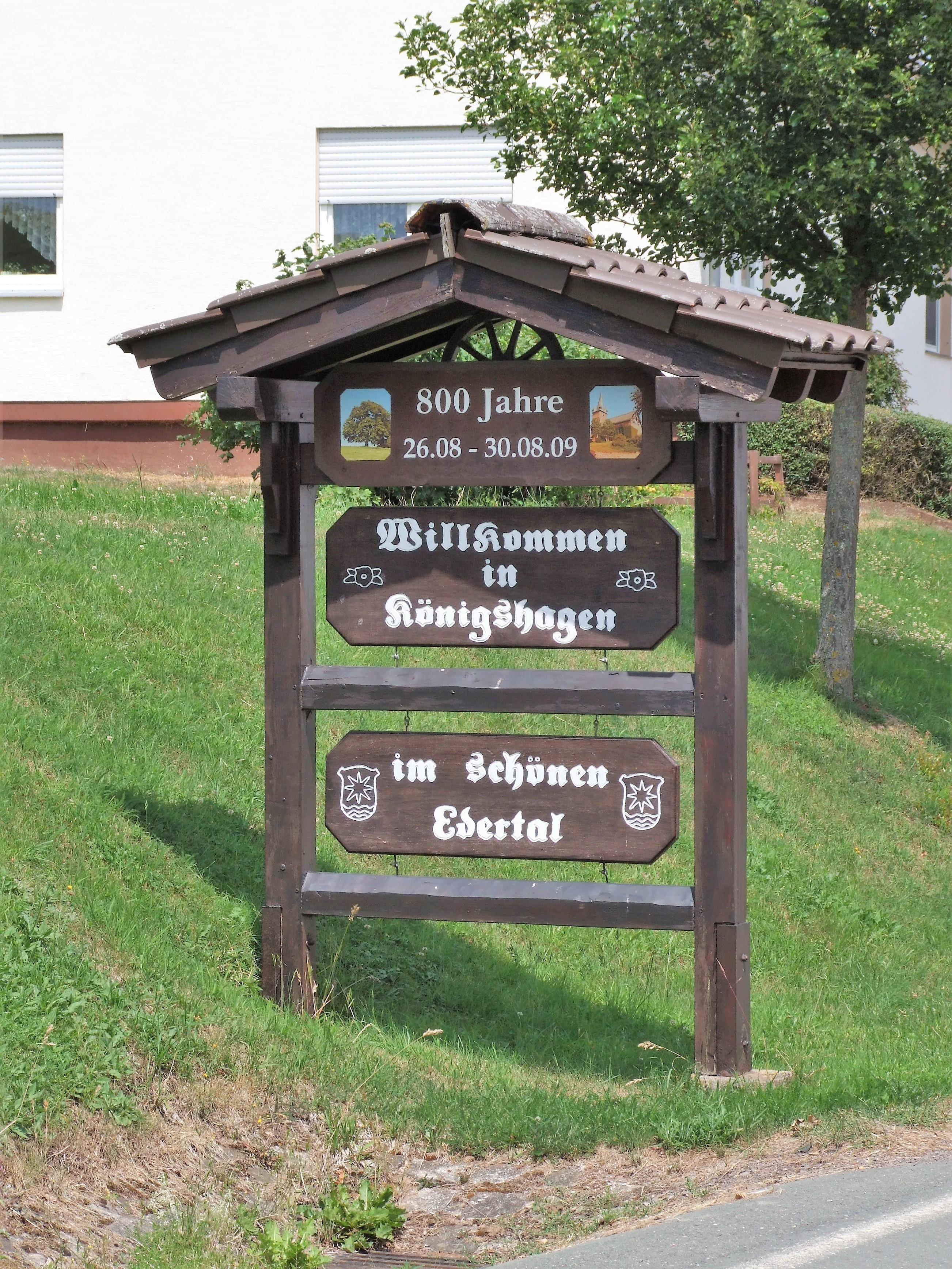 Willkommensgruß am Ortseingang. (Foto: Uli Klein)