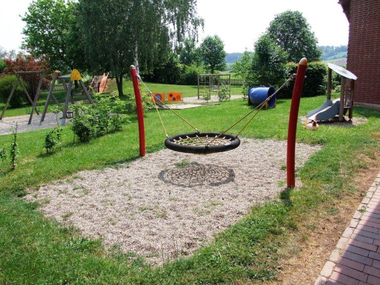 Der Spielplatz der Kindertagesstätte. (Foto: Uli Klein)