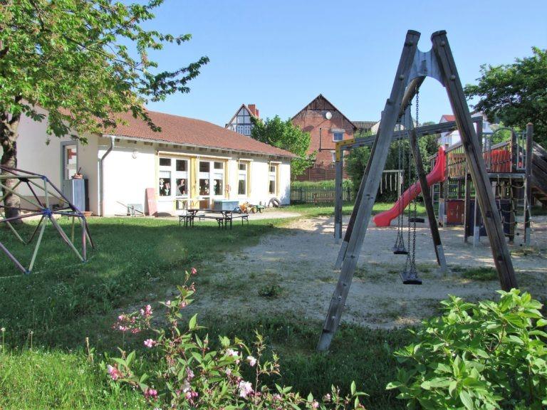 Spielplatz am Kindergarten. (Foto: Uli Klein)