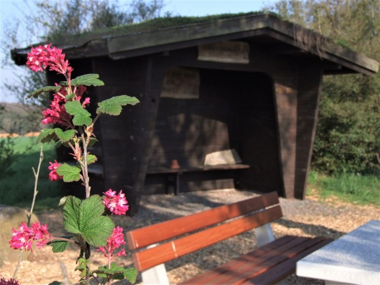 Lauschiges Plätzchen mit Schutzhütte auf dem Sengelsberg. (Foto: Uli Klein)